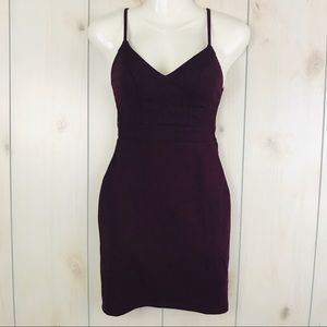 Deep Wine Purple Sleeveless Bodycon Formal Dress